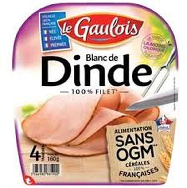Blanc de dinde sans OGM, Le Gaulois (4 tranches, 160 g)