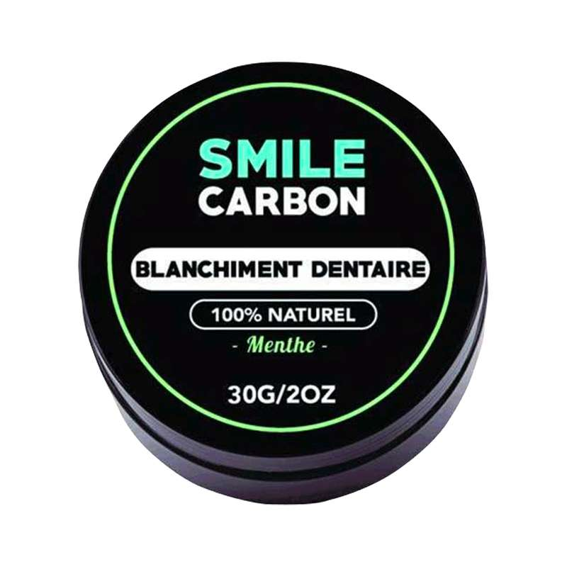 Blanchisseur dentaire à la poudre de charbon actif goût menthe, Smile Carbon (30 g)