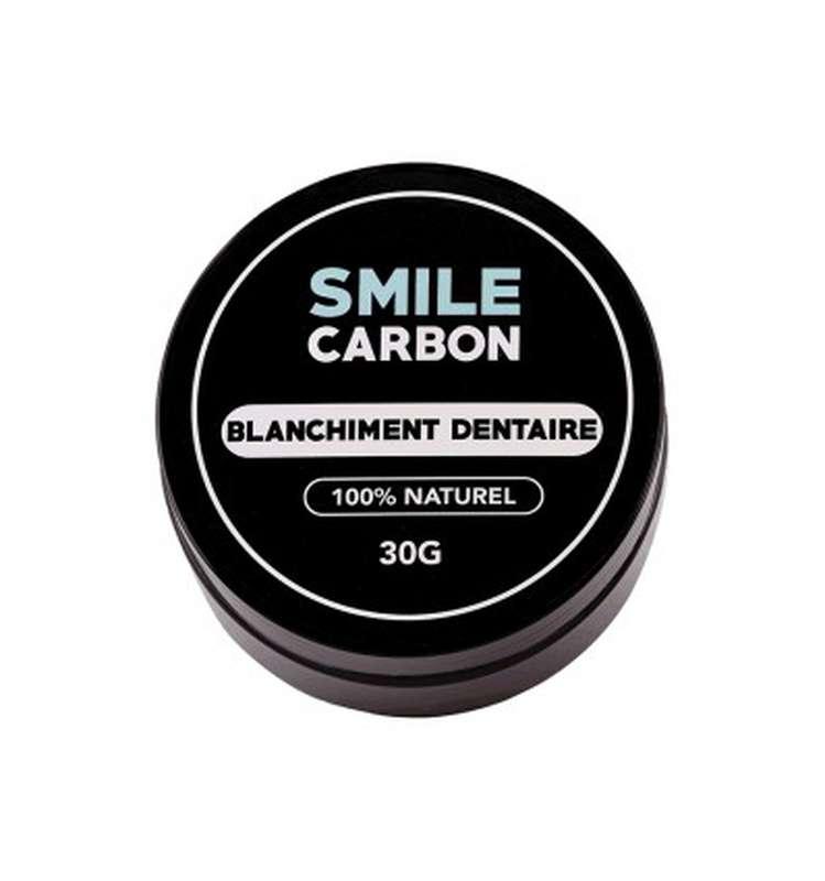 Blanchisseur dentaire à la poudre de charbon actif, Smile Carbon (30 g)