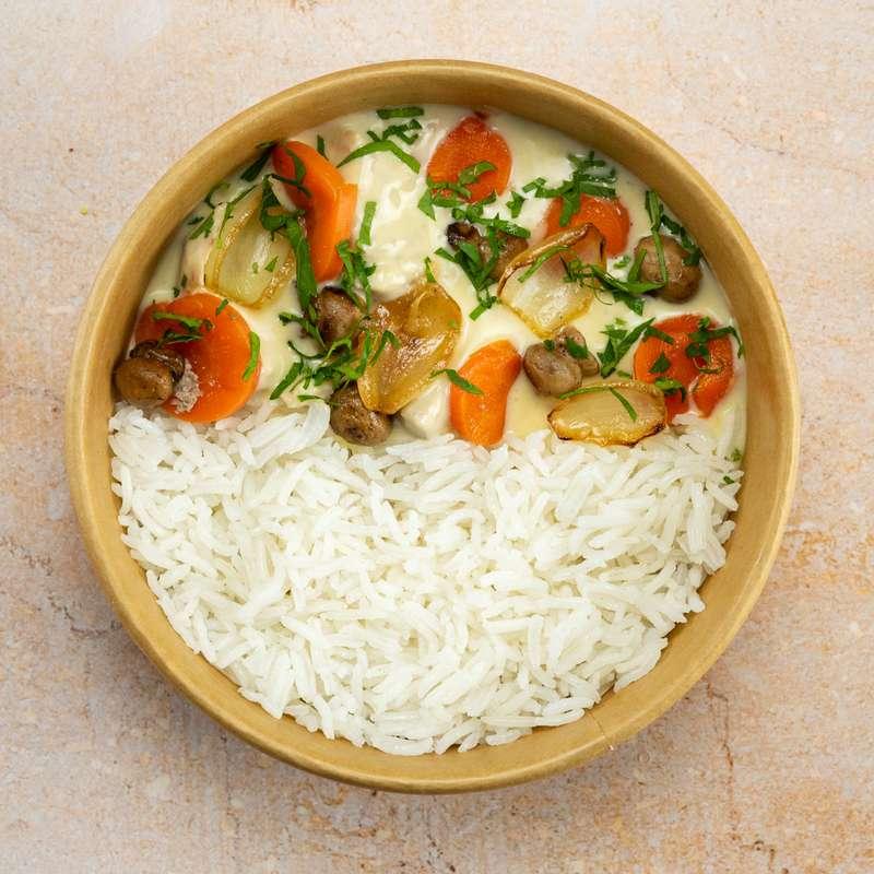 Blanquette de veau, riz basmati (300 g)