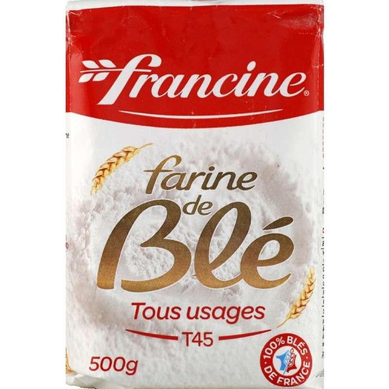 Farine de blé T45 tous usage, Francine (500 g)