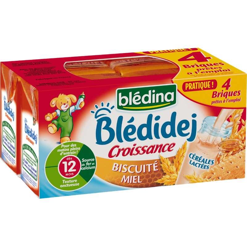 Blédidej croissance biscuité miel - dès 12 mois, Blédina (4 x 250 ml)