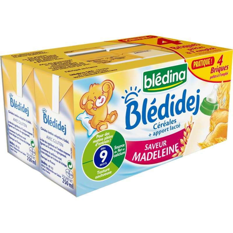 Blédidej céréales saveur madeleine - dès 9 mois, Blédina (4 x 250 ml)