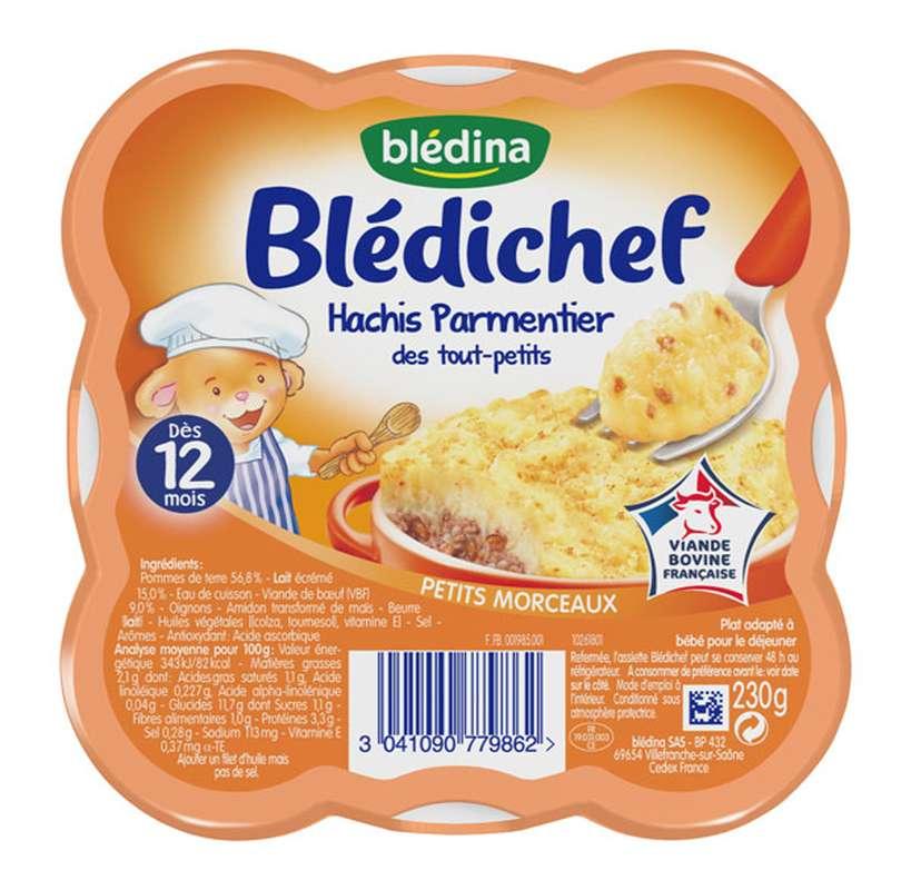 Blédichef assiette de hachis parmentier des touts petits - dès 12 mois, Blédina (230 g)