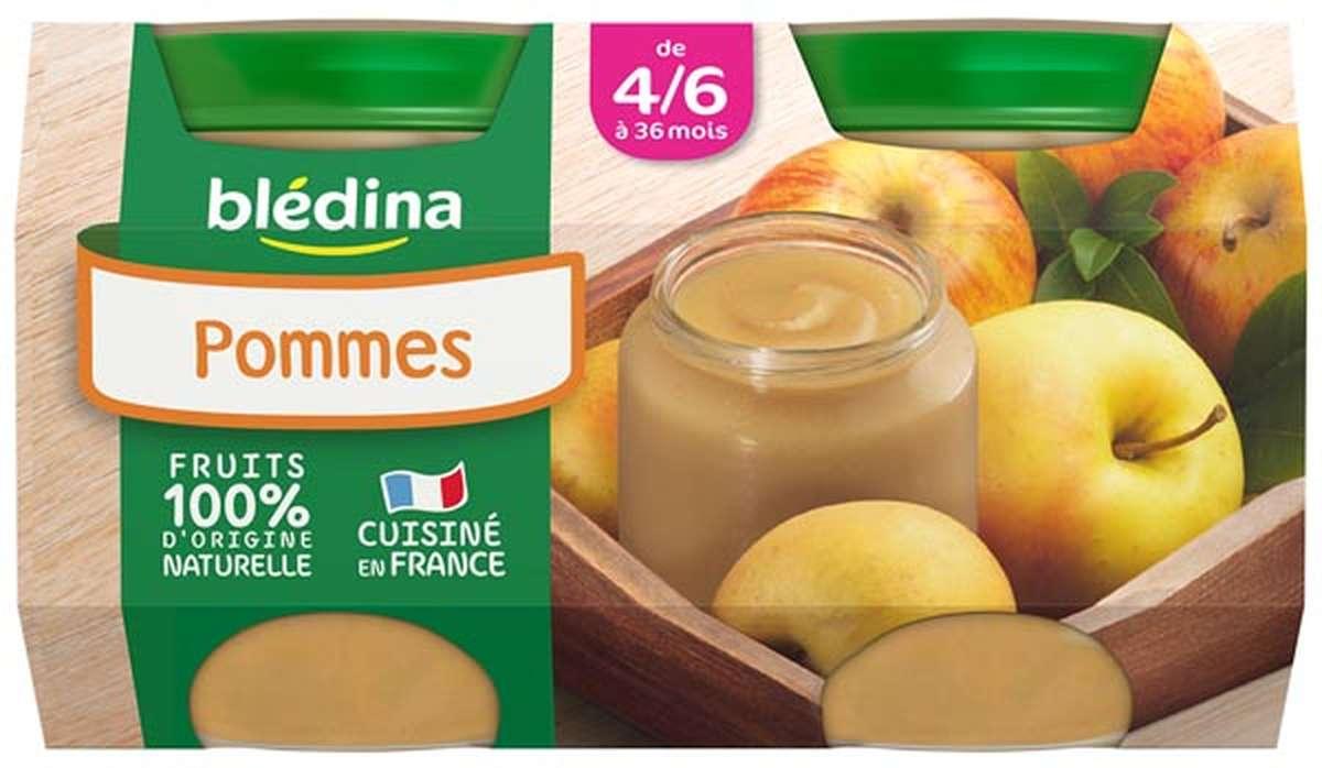 Petit pot pommes - dès 4/6 mois, Blédina (2 x 130 g)