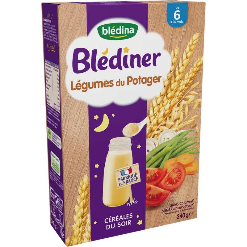 Blédiner céréales du soir légumes du potager - dès 6 mois, Blédina (250 g)