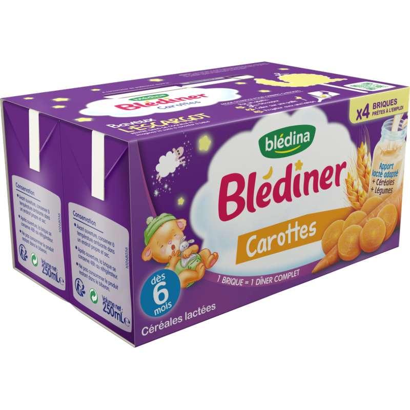 Blédiner aux carottes - dès 6 mois, Blédina (4 x 250 ml)