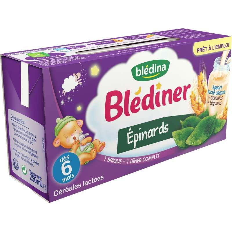 Blédiner aux épinards - dès 6 mois, Blédina (2 x 250 ml)