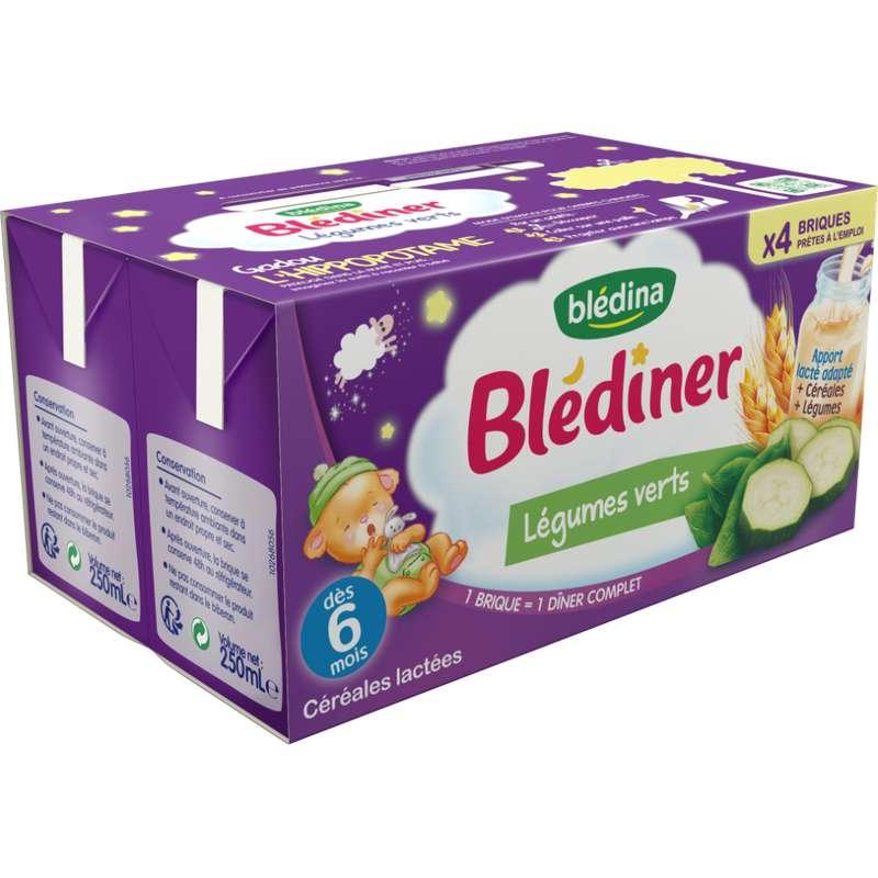 Blédiner aux légumes verts - dès 6 mois, Blédina (4 x 250 ml)