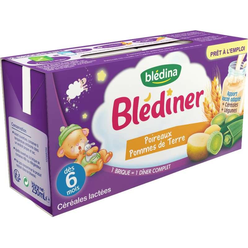 Blédiner aux poireaux et pomme de terre - dès 6 mois, Blédina (2 x 250 ml)