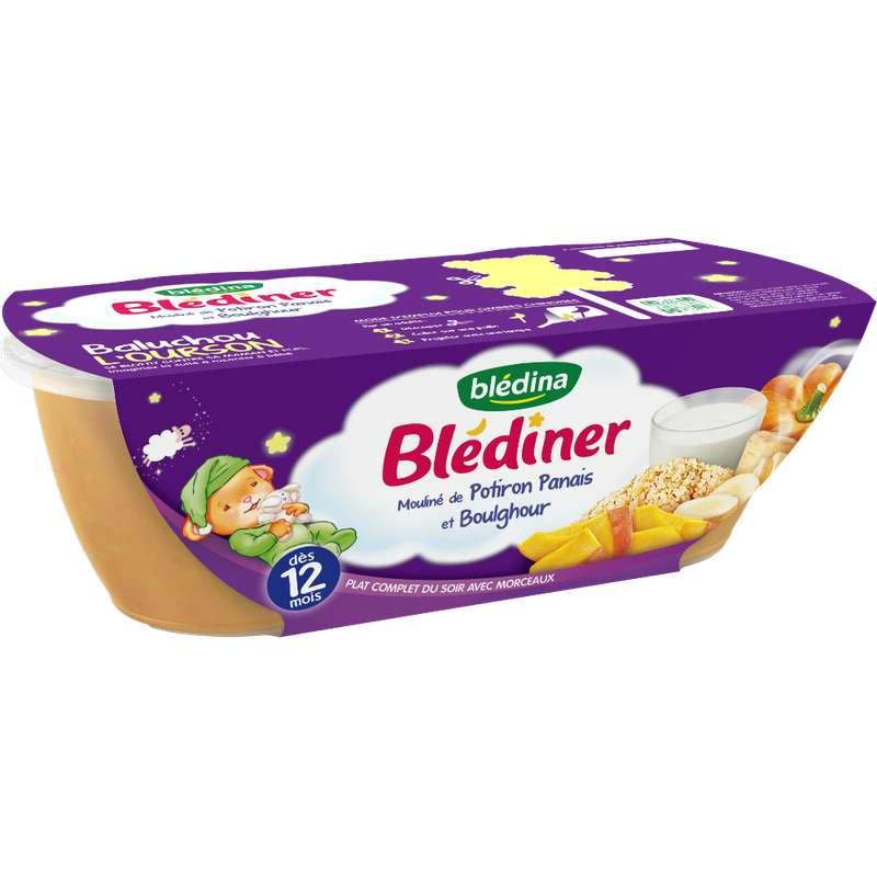 Blédiner bols mouliné de potiron, panais, boulghour - dès 12 mois, Blédina (2 x 200 g)
