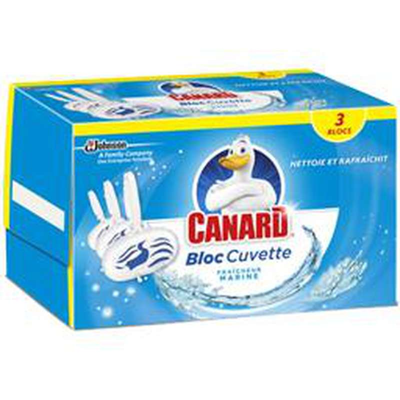 Bloc cuvette fraîcheur marine, Canard (x 3)