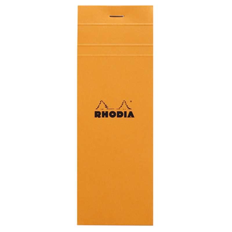 Bloc-notes agrafé petits carreaux, Rhodia (7,4 x 21 cm, 160 pages)