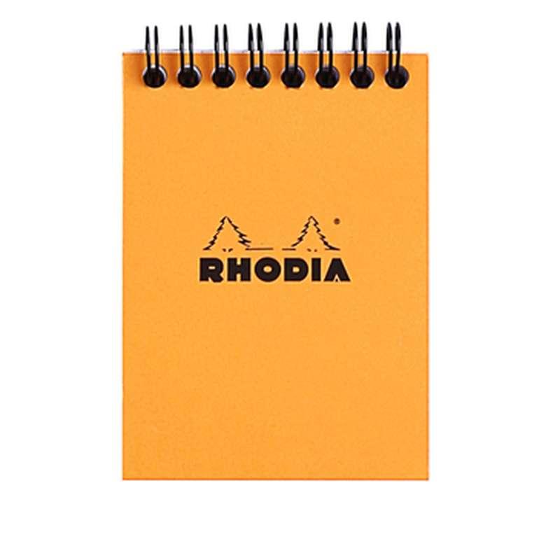 Bloc-notes petits carreaux reliure intégrale, Rhodia (format A7, 7 x 10,5 cm, 80 feuilles recto verso, 160 pages)