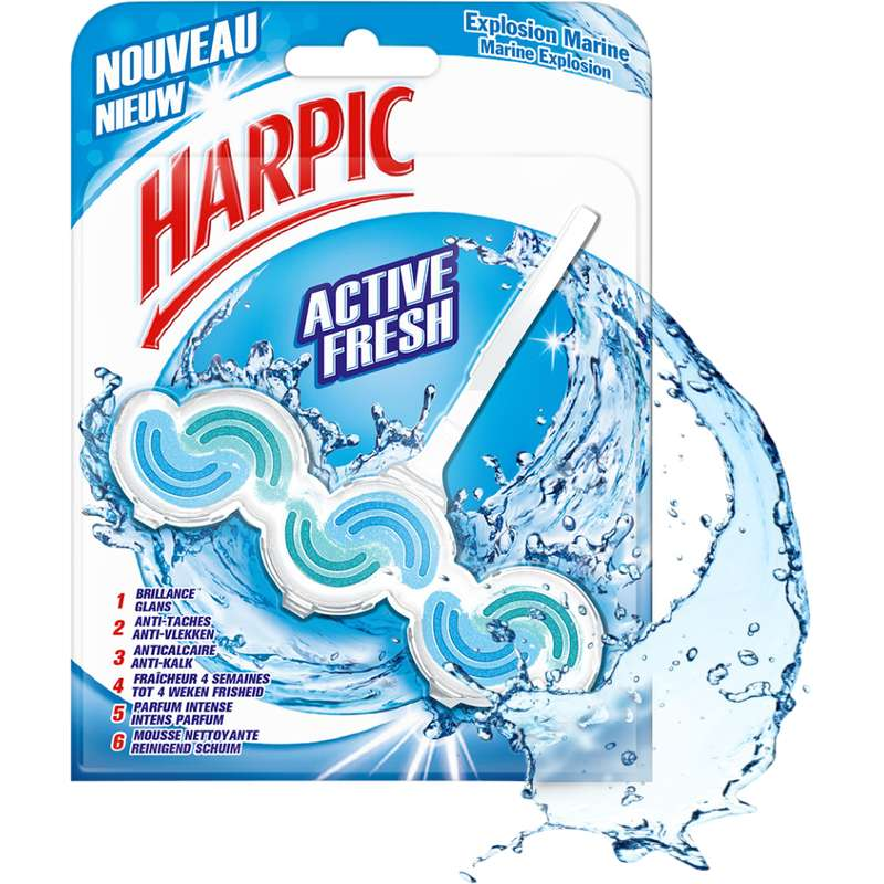 Bloc WC active fresh explosion marine, Harpic (x 1)