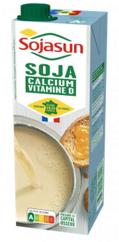 Boisson de soja Calcium et Vitamine D, Sojasun (1 L)