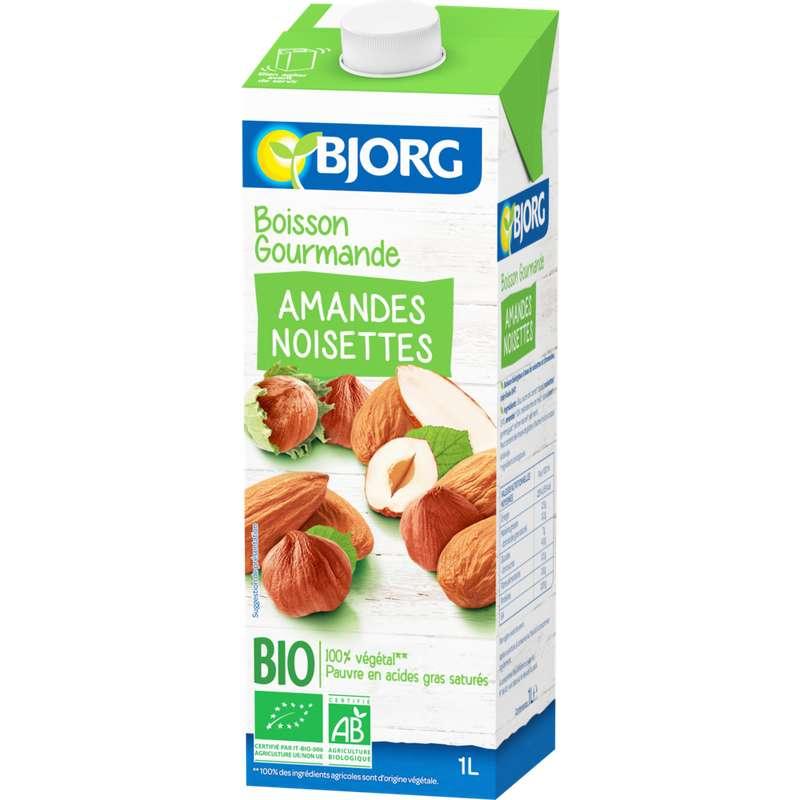 Boisson gourmande amandes noisettes BIO, Bjorg (1 L)