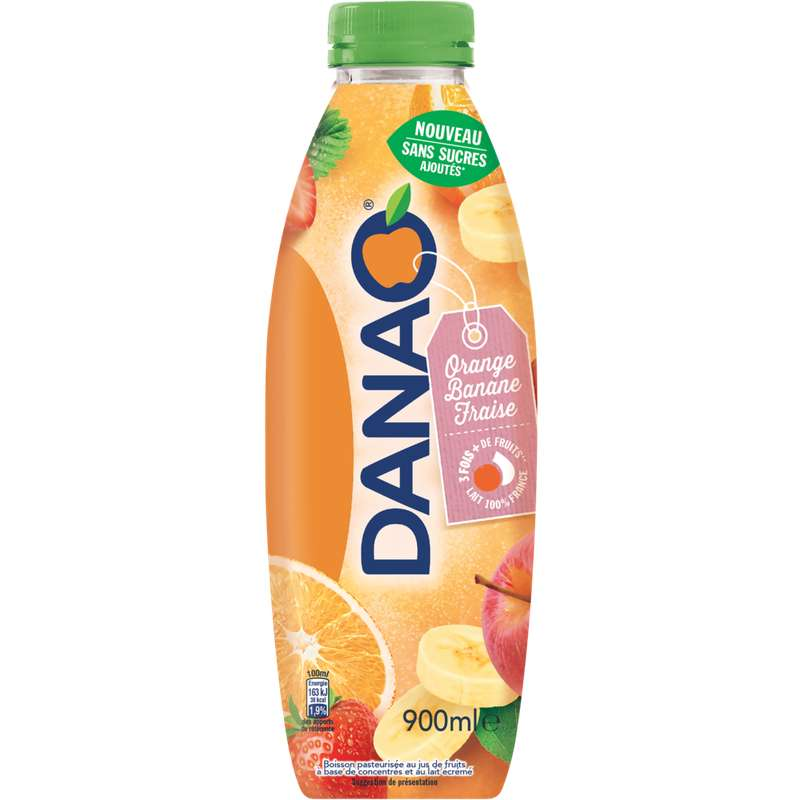 Danao orange, banane et fraise (90 cl)