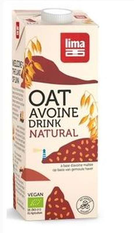 Boisson végétale Oat drink natural BIO, Lima (1 L)