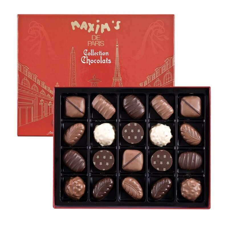 """Boîte 20 chocolats """"Paris"""", Maxim's (200 g)"""