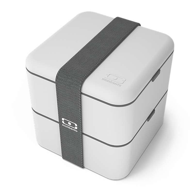 Boîte Bento carrée - gris Coton, Monbento