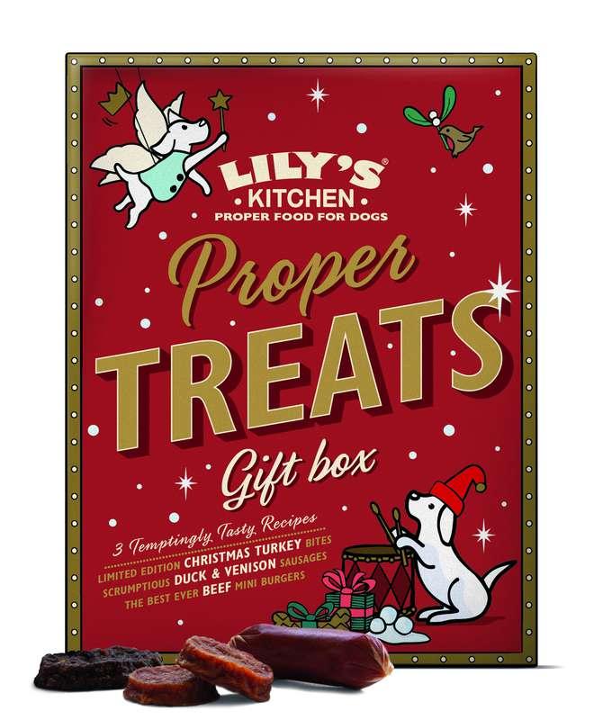 Boîte cadeau de Noël - Friandises pour chiens, Lily's Kitchen