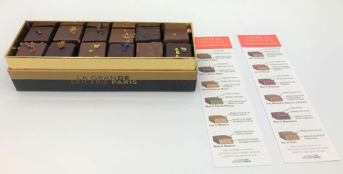 Boîte de 12 bonbons de chocolat, La Grande Épicerie de Paris (x 12, 120 g)