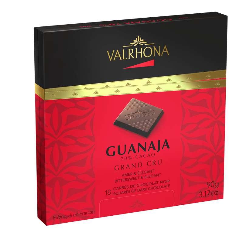 Boite de 18 carrés Guanaja Noir 70%, Valrhona (90 g)