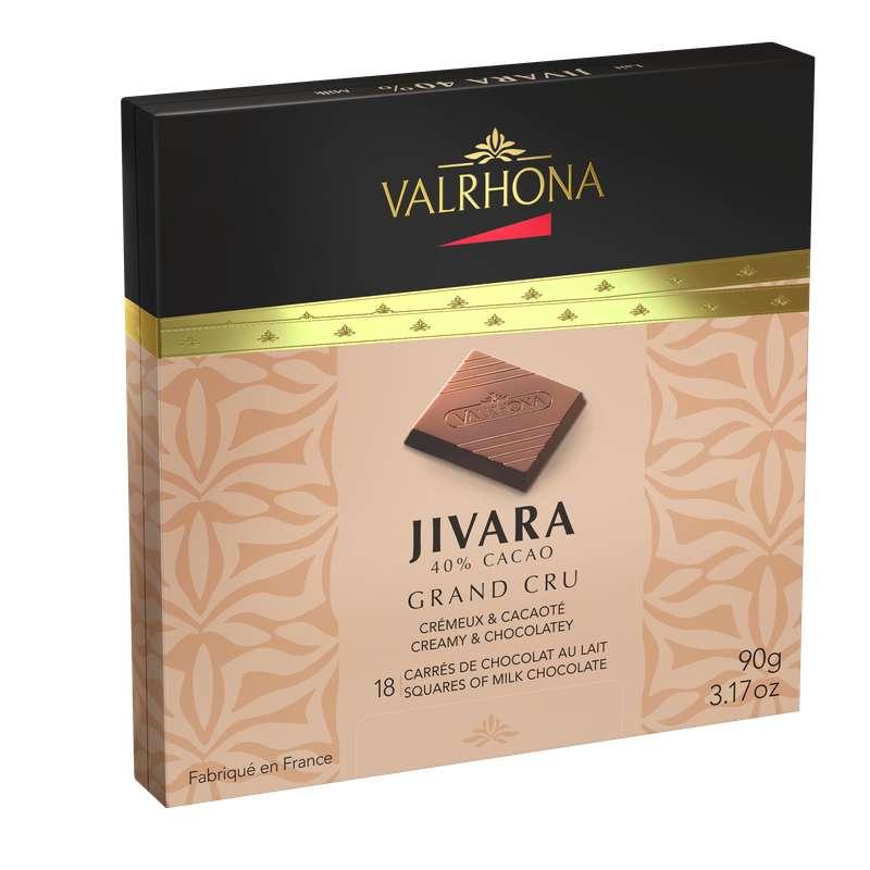 Boite de 18 carrés Jivara Lait 40%, Valrhona (90 g)