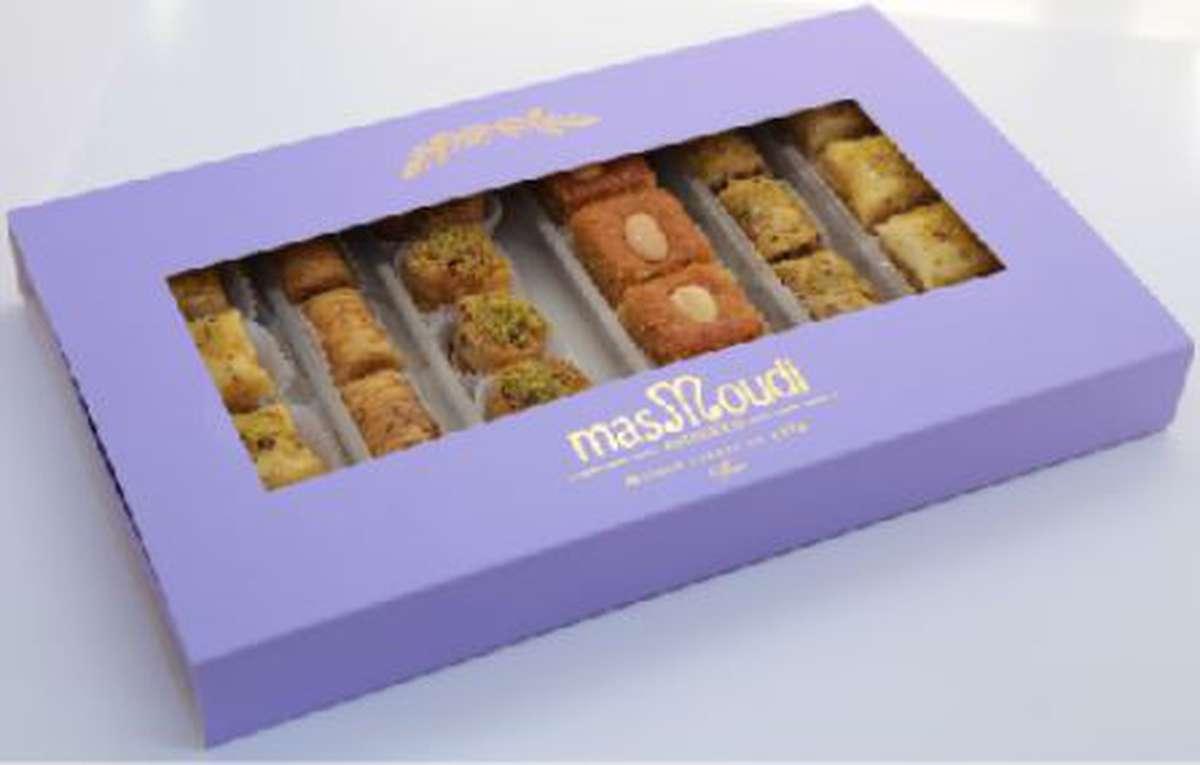 Coffret de 25 pâtisseries fines Libanaises, Masmoudi (645 g)