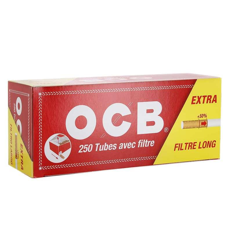 Tubes avec filtre, OCB (x250) (calibre moyen)