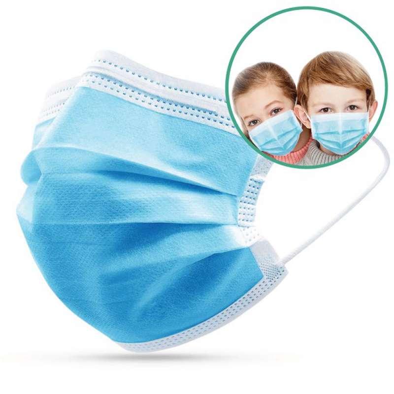Boite de 50 masques médicaux TAILLE ENFANTS type 2 CE - jetables à usage unique (x 50)