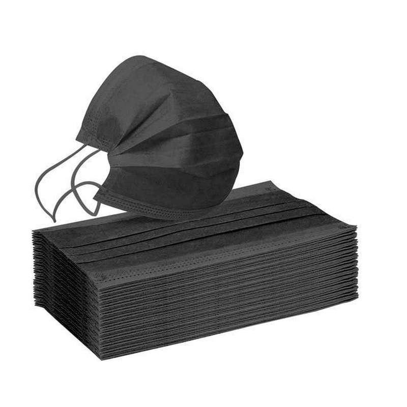 Boite de 50 masques NOIRS médicaux type 2 CE - jetables à usage unique (x 50)