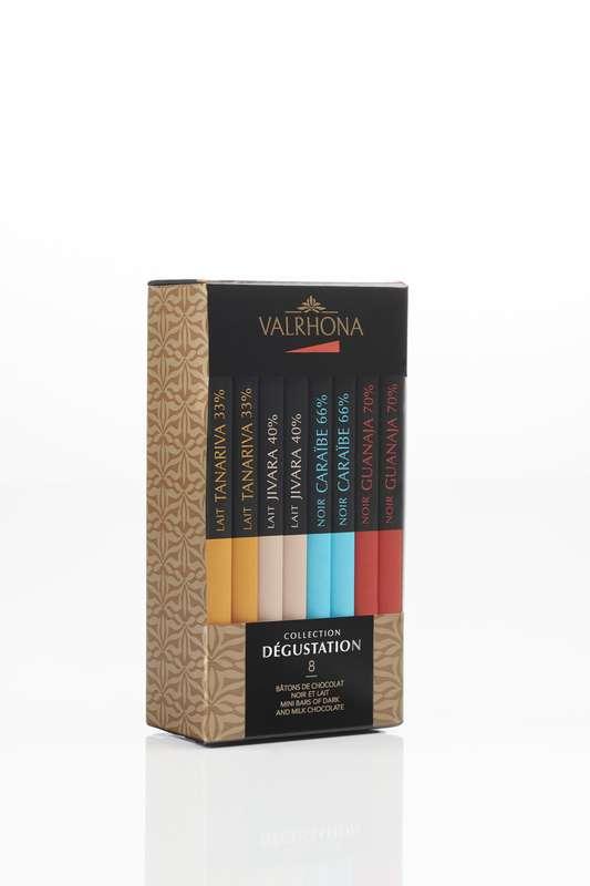 Boîte de 8 bâtons Grands Crus Collection Dégustation, Valrhona (160 g)