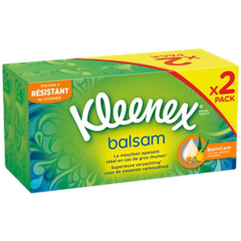Boite de mouchoirs balsam, Kleenex LOT DE 2 (2 x 72)