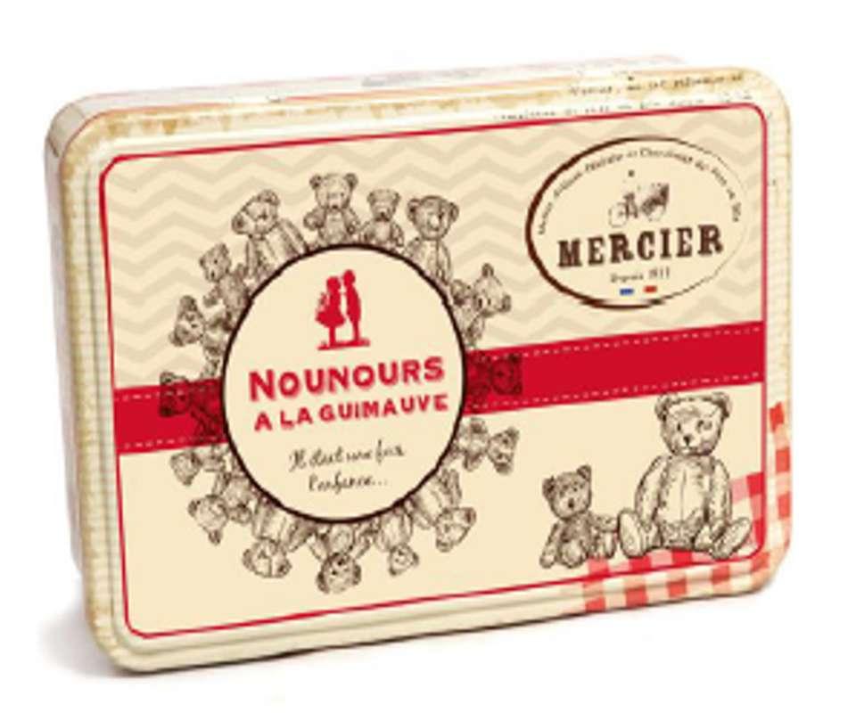Boîte métal ourson guimauve, Daniel Mercier (120 g)