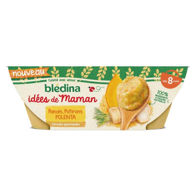 Bols panais, potiron, polenta Idées de Maman - dès 8 mois, Blédina (2 x 200 g)