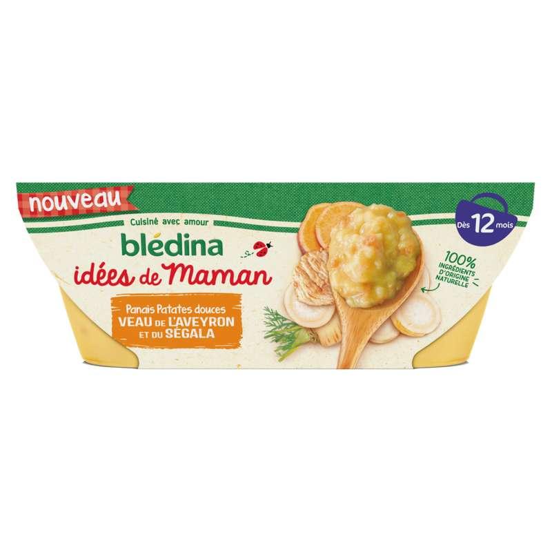 Bols panais, patates douces, veau Idées de Maman - dès 12 mois, Blédina (2 x 200 g)