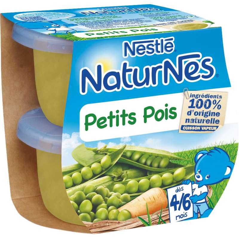 Petits pois - dès 4/6 mois, Naturnes Nestlé (2 x 130 g)