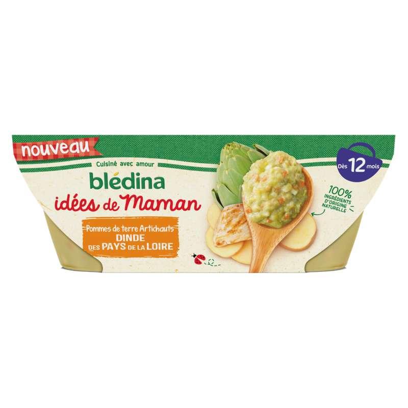 Bols pomme de terre, artichaut, dinde des pays de la Loire Idées de Maman - dès 8 mois, Blédina (2 x 200 g)