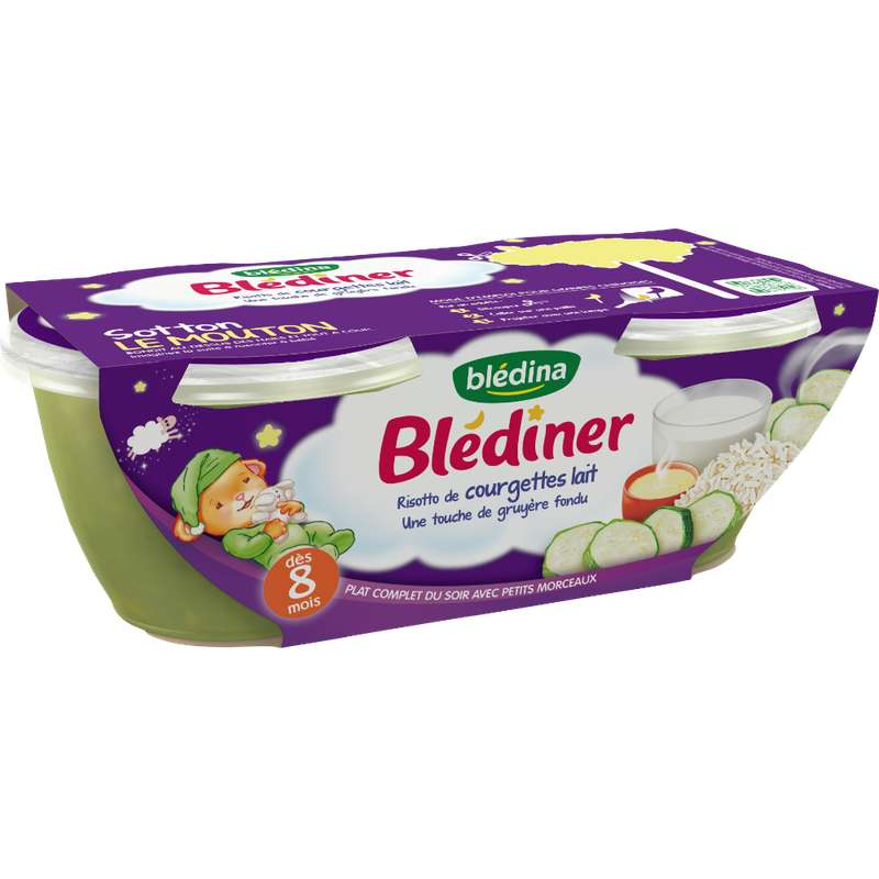 Blédiner bols risotto de courgettes - dès 8 mois, Blédina (2 x 200 g)