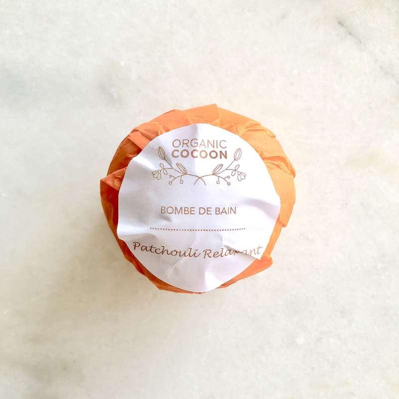 Bombe de bain moussante Patchouli Relaxant, Organic Cocoon (145 g)