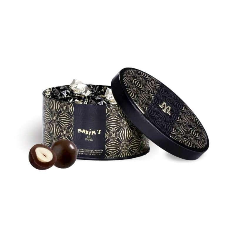 Bonbonnières de noisettes torréfiées chocolat noir, Maxim's (40 g)