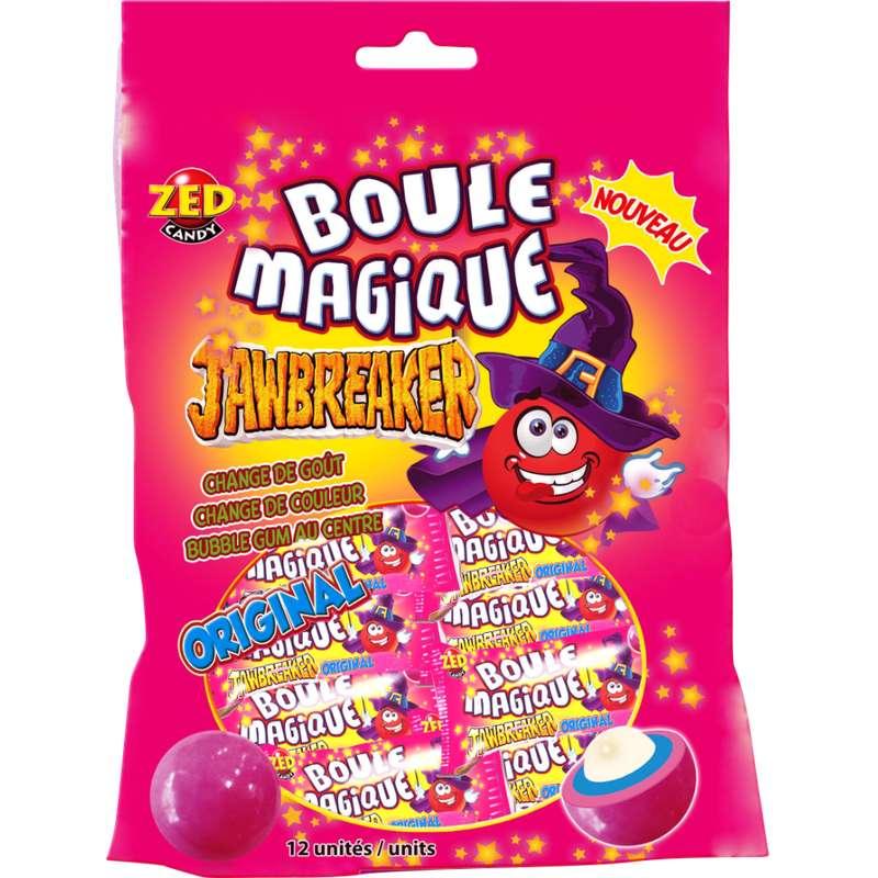 Bonbons dur avec centre de chewing gum, Boule Magique (175 g)