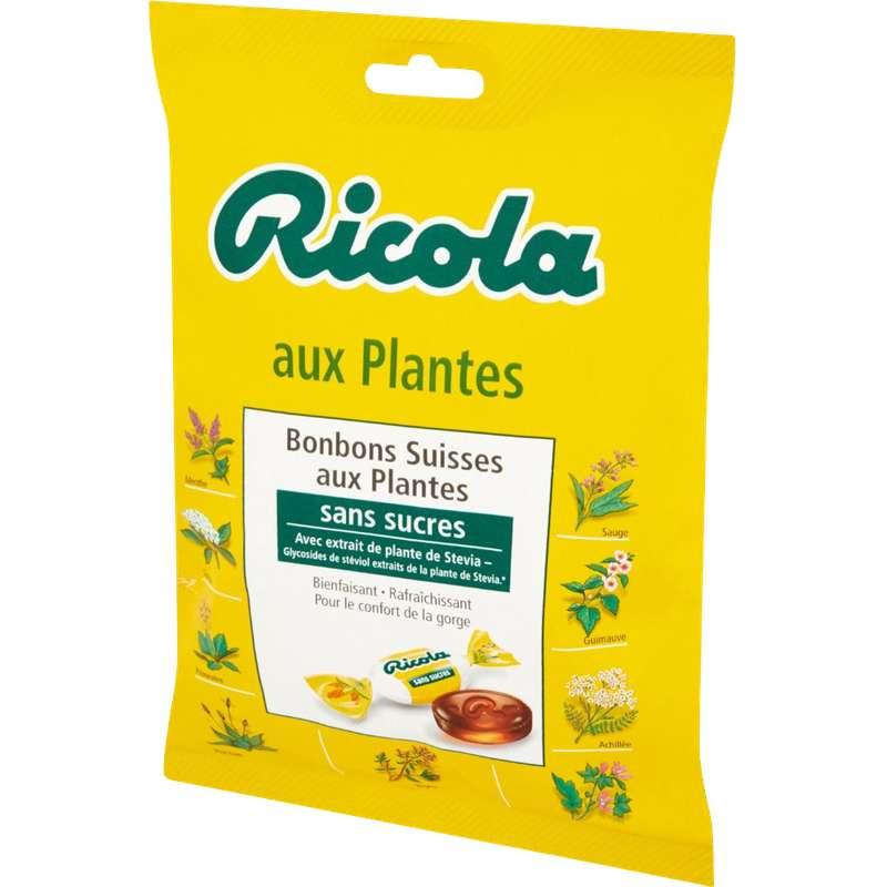 Bonbons aux plantes sans sucre à la stévia, Ricola (70 g)