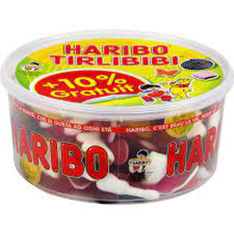 Bonbons Tirlibibi méga boîte, Haribo (1 kg + 10% OFFERT)