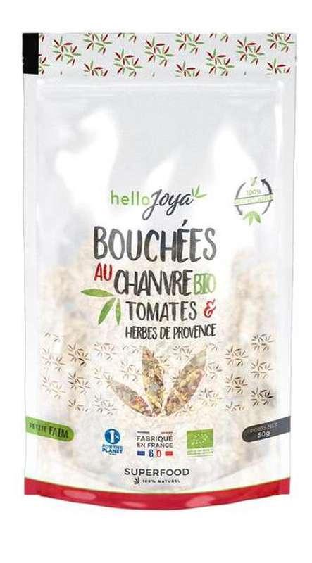 Bouchées au chanvre à la Tomate & Herbes de Provence BIO, Hello Joya (50 g)