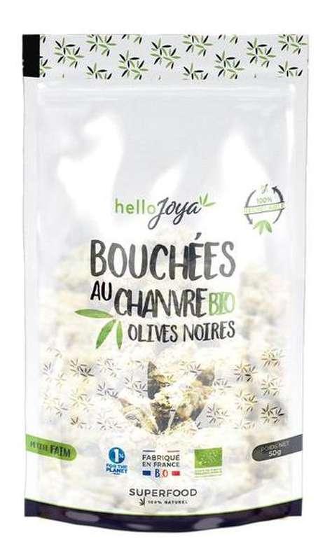 Bouchées au chanvre aux olives noires BIO, Hello Joya (50 g)