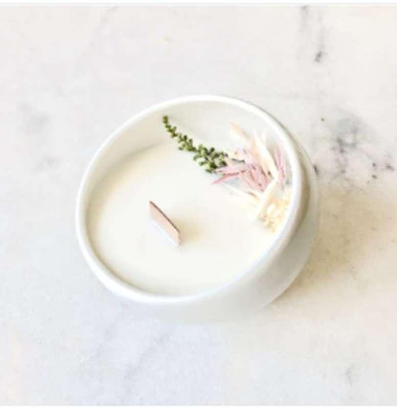 Bougie fleurie A l'ombre du figuier, Organic Cocoon (9 x 7,5 cm)