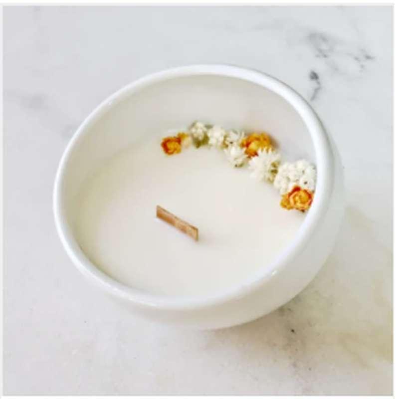 Bougie fleurie Fleur d'oranger, Organic Cocoon (9 x 7,5 cm)